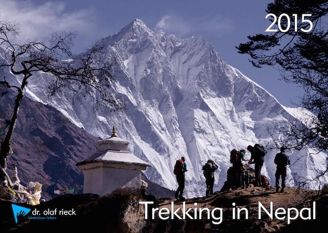 Der Wand der Wände ziert das Titelblatt des neuen Kalenders. Der Tag, an welchem wir auf unserem Khumbu-Trek diesen Ausblick haben, bleibt für viele meiner Gäste in besonderer Erinnerung.