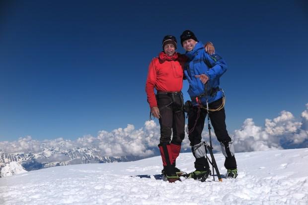 Der Mont Blanc begegnete uns wie ein Freund. Ich fühlte mich aufgehoben und sicher bei jedem einzelnen Schritt. Schon seltsam, wie ich manchmal auf Bergen empfinde. Und Mario war ein großartiger Partner.