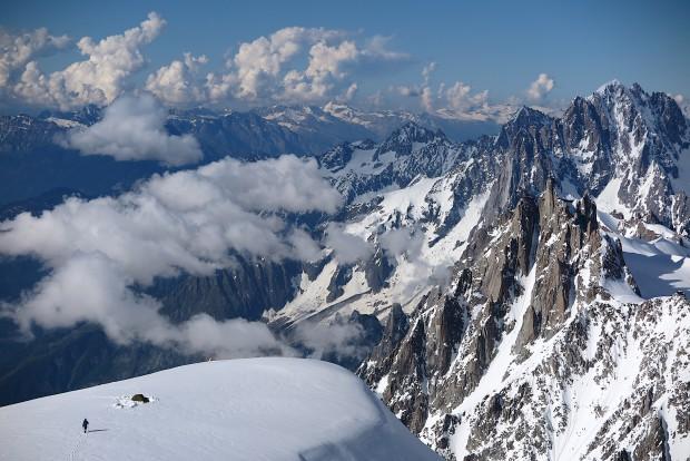 Unser Lager etwa 800 m unterhalb des Mont Blanc-Gipfels. Einen spektakulärer Ort, der wohl in den Alpen seinesgleichen sucht.