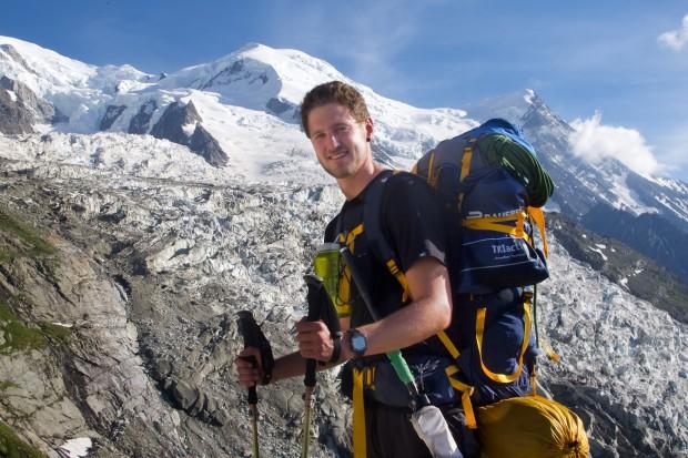 Sven bei seiner Tour mit mir zum Mont Blanc im vergangenen Jahr.