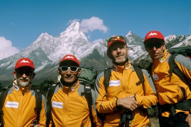 Ralf Brummer (zweiter von rechts) 2006 auf unserer gemeinsamen Expedition zur Ama Dablam