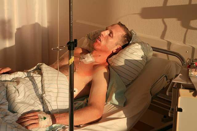 Georg im Krankenhaus