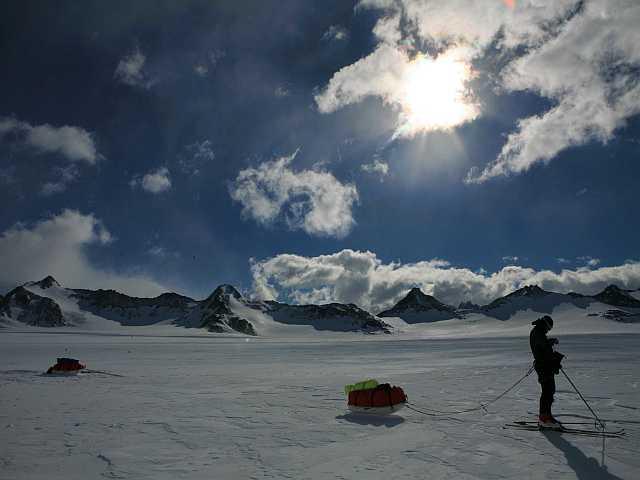 Georg vor den patagonischen Bergen
