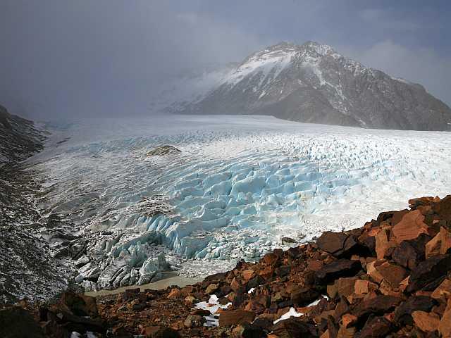 der Gletscher Rio Túnel