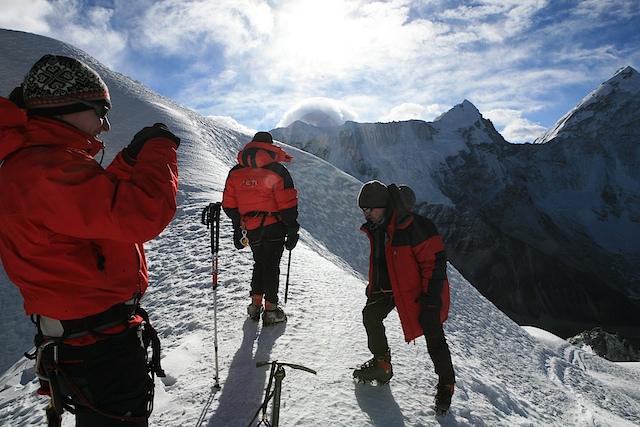 im Eis am Island Peak
