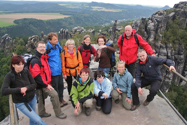 Die Gäste für die Abenteuer Himalaya-Tour 2009
