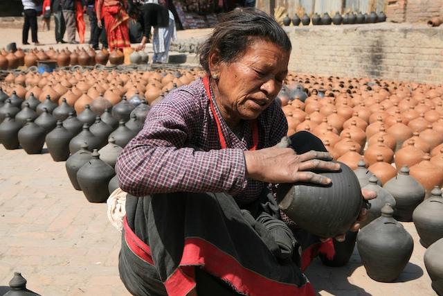 Der Pottersquare in Baktapur ist einer meiner Lieblingsplätze im Kathmandutal