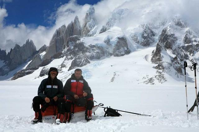 Olaf und Georg vor dem Cerro Torre